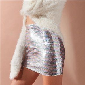 Urban outfitters sequin mini skirt small